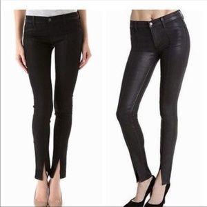 J BRAND VERA COAT Steal Black Skinny Jeans 27 EUC